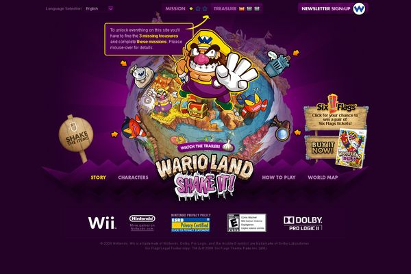 Nintendo Wario Land by Han Lee, via Behance