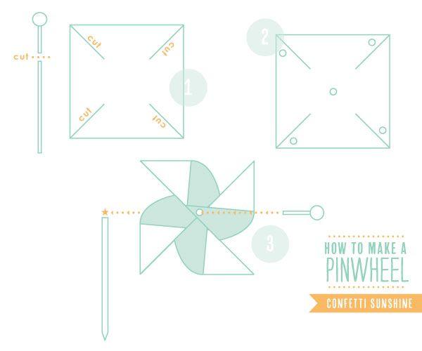 Confetti Sunshine: Garden Party - DIY pinwheel