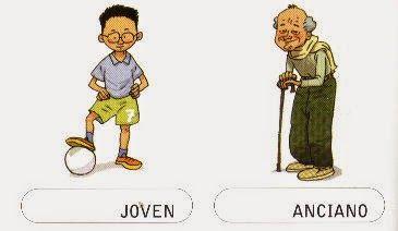 EDUCACIÓN SOCIAL PARA PERSONITAS ESPECIALES: Los contrarios; descripción física// alto y bajo- gordo y flaco,anciano-joven.