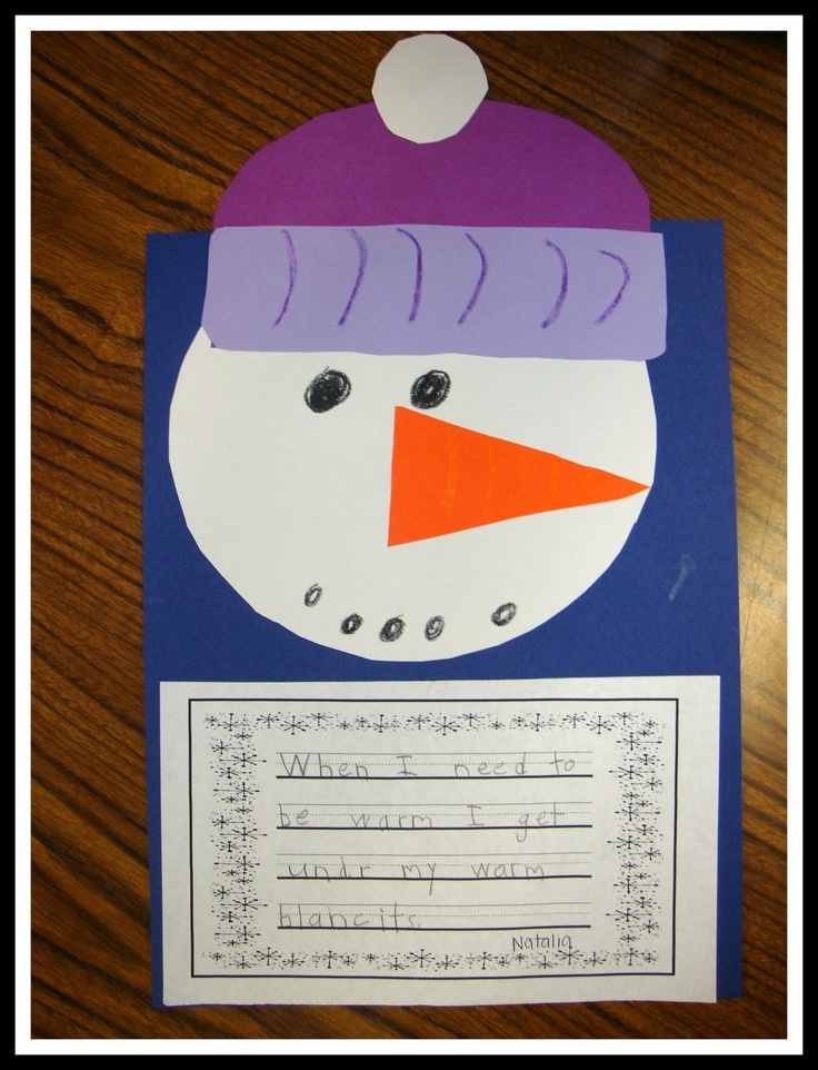 3rd Grade Christmas Craft Ideas Part - 39: Cute Winter Writing Prompt- Craft For Sneezy The Snowman