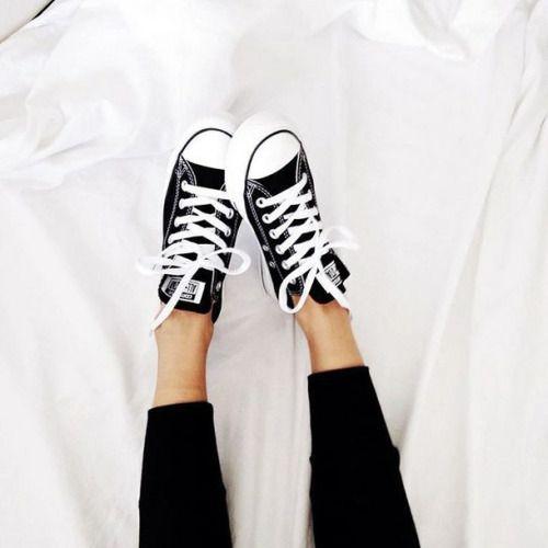 Converse + black denim. Love this.