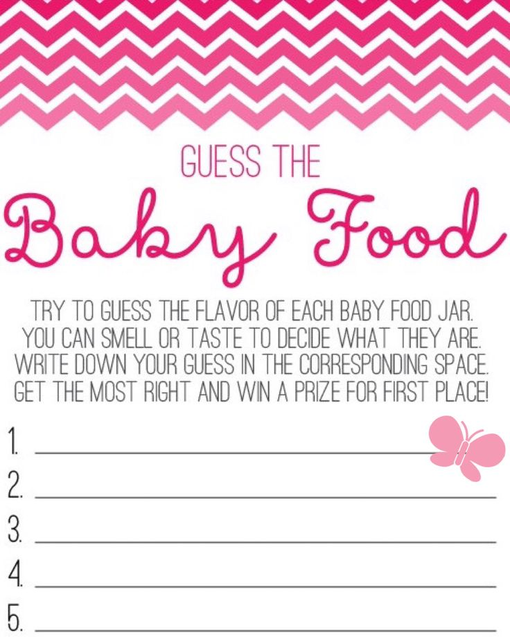 Challenger image for guess the baby food game free printable