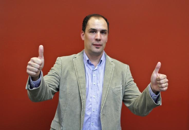 Óscar Delgado, periodismo en estado puro  Foto Kiko llorens