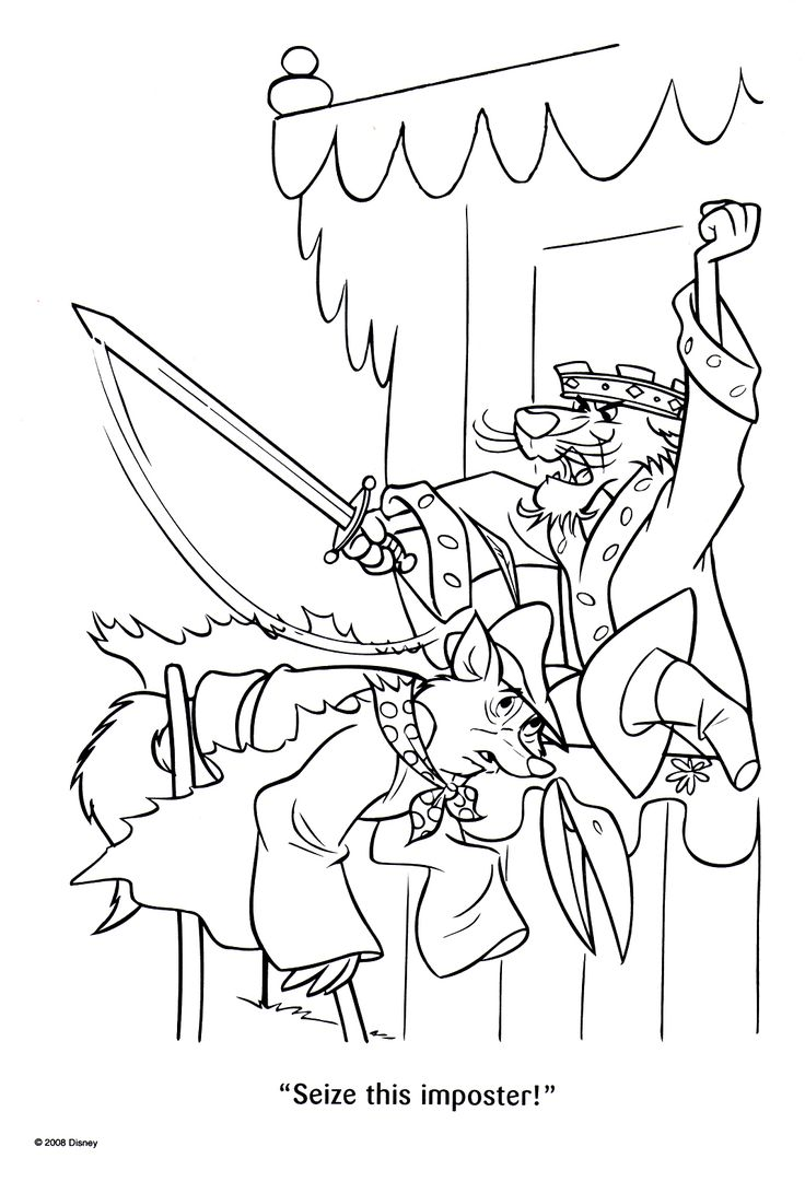 Colouring pages robin hood - Disney Coloring Pages