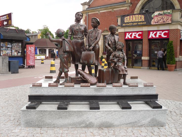 Pomnik upamiętniający Kindertransporty;  #Gdańsk, okolice dworca PKP
