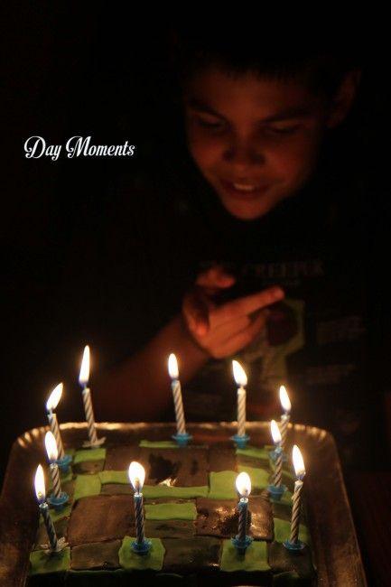 Anniversaire Minecraft » Day Moments birthday cake