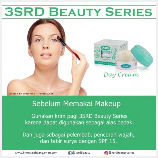 Merk Pelembab Wajah sebelum Makeup: 3SRD Beauty Series    Contact us: Pin: D537A6EE, WA: 0856-2322-435, Line: @yty1701c (pakai @)