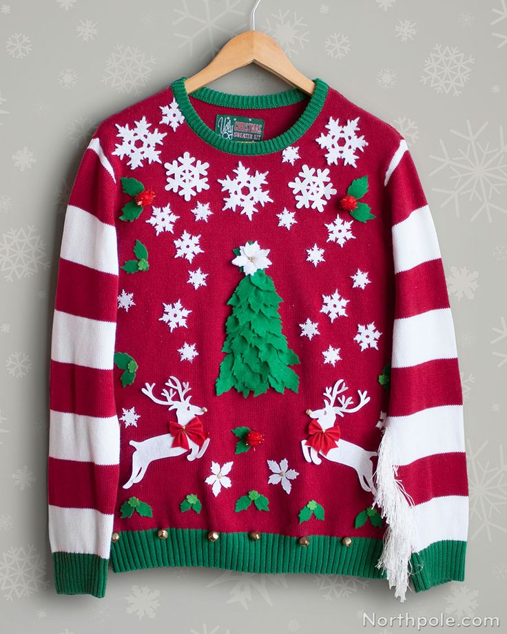 Diy Temporary Ugly Christmas Sweater Stickers Parties