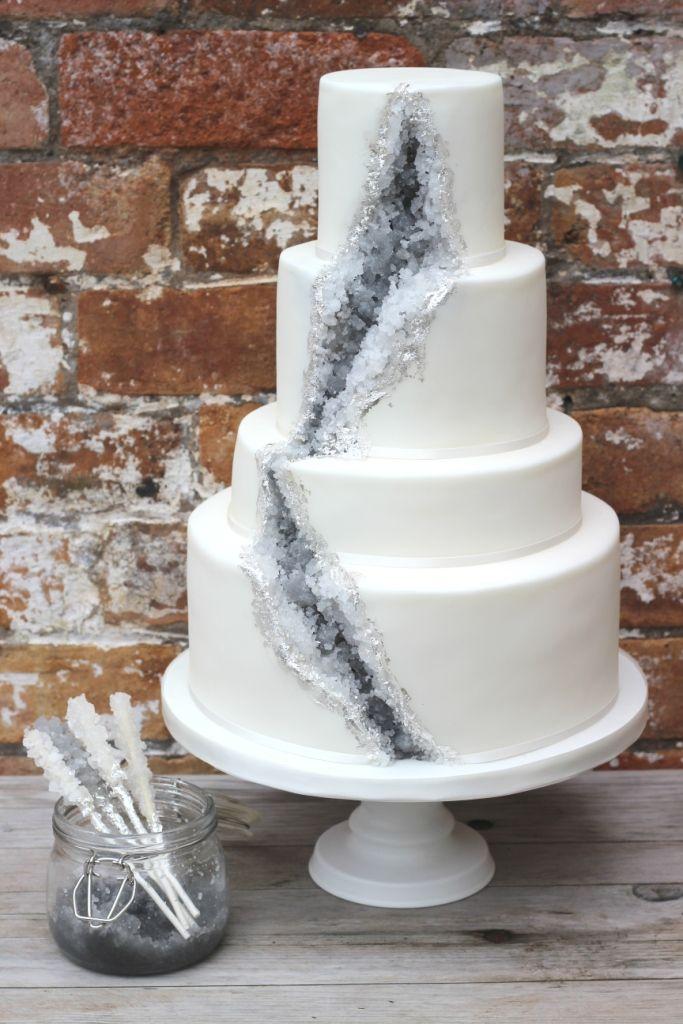 A geode Wedding cake - A 'Rock Candy' recipe | Sugared Rose