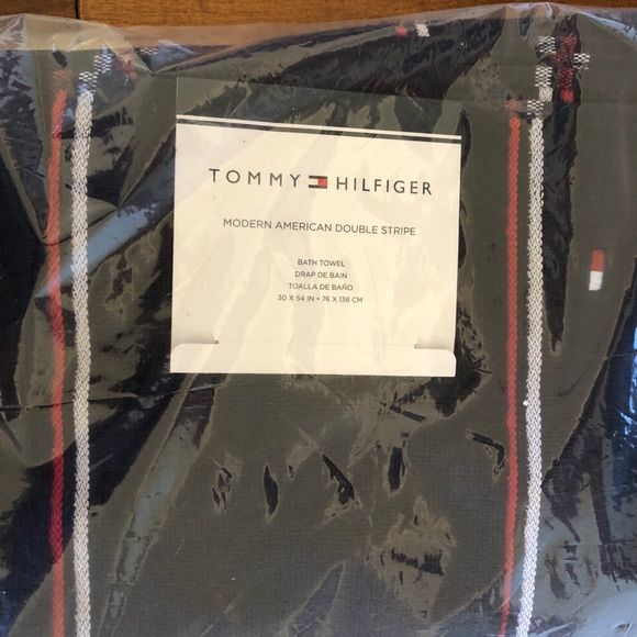 Tommy Hilfiger Bath Tommy Hilfiger Bathtowel Peacoat W Stripes 3x54in Poshmark Tommy Hilfiger Stripes Bath Towels Colors