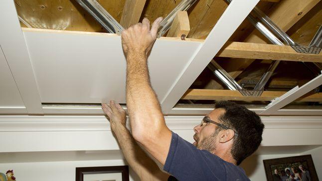 Un plafond suspendu prestigieux | Rénovation Bricolage