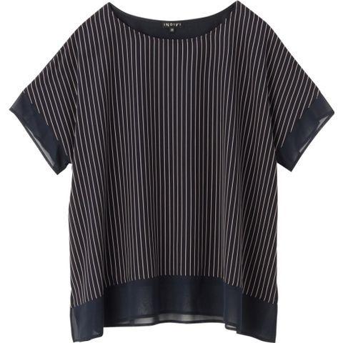 [L]ストライプ切り替えカットソー(INDIVI [インディヴィ] のTシャツ) | iQON