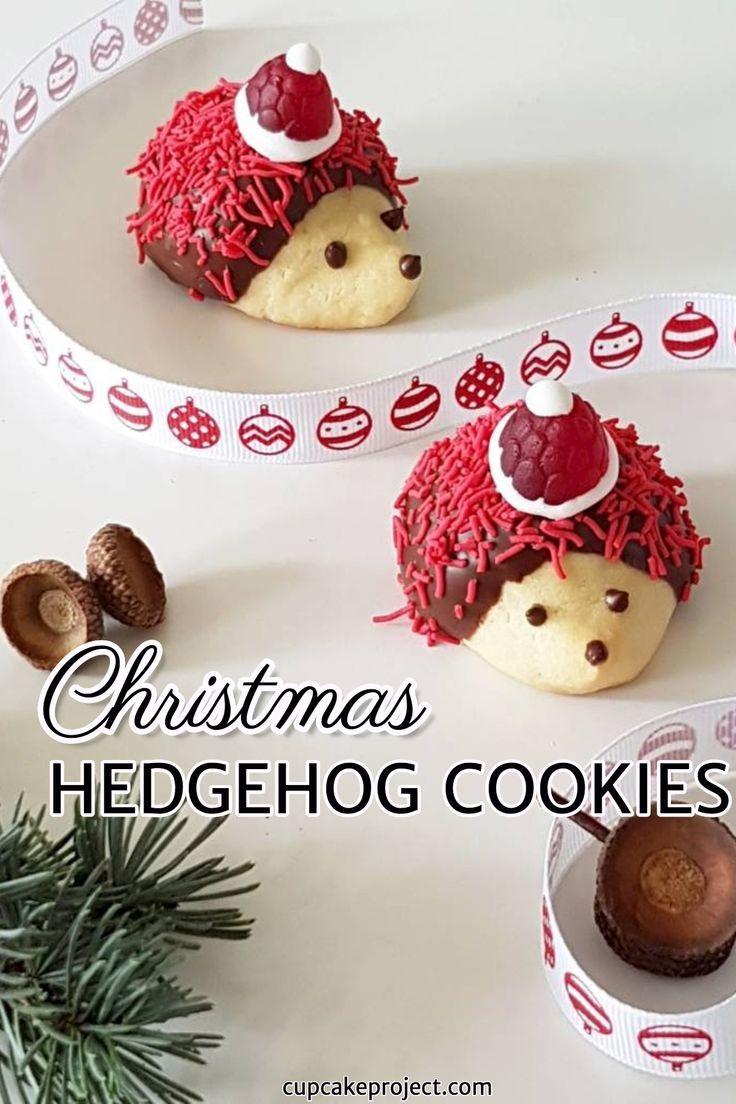 Hedgehog Cookies Recipe Hedgehog Cookies Christmas Food Desserts Christmas Desserts Easy