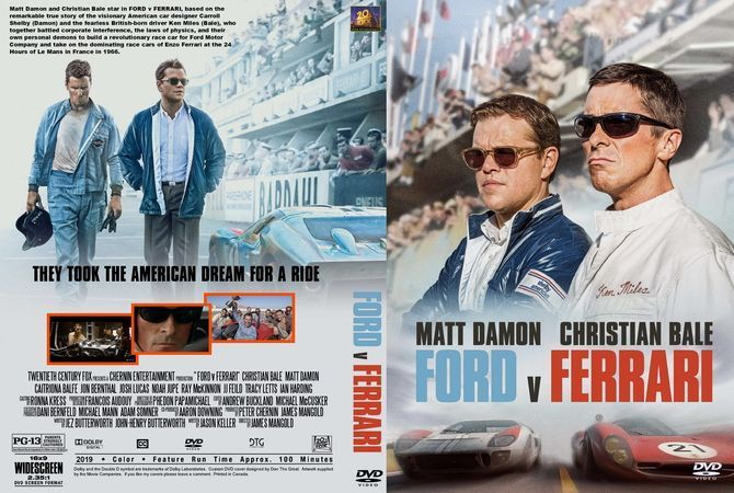 Ford V Ferrari 2019 Dvd Custom Cover Fordvferrarimovie2019