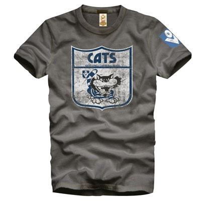 Geelong Cats Grey Retro T-Shirt $30