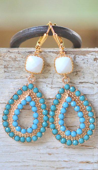Turquoise Boho Drops