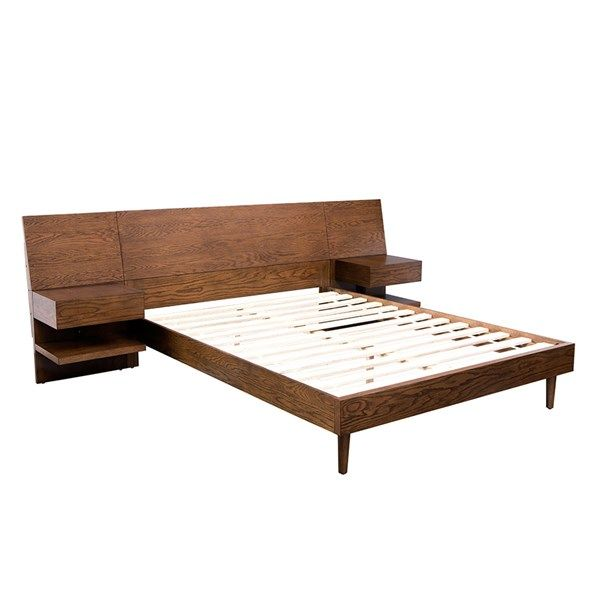 Clark Bed With 2 Nightstands Bed Furniture Contemporary King Bed Bed Frames For Sale