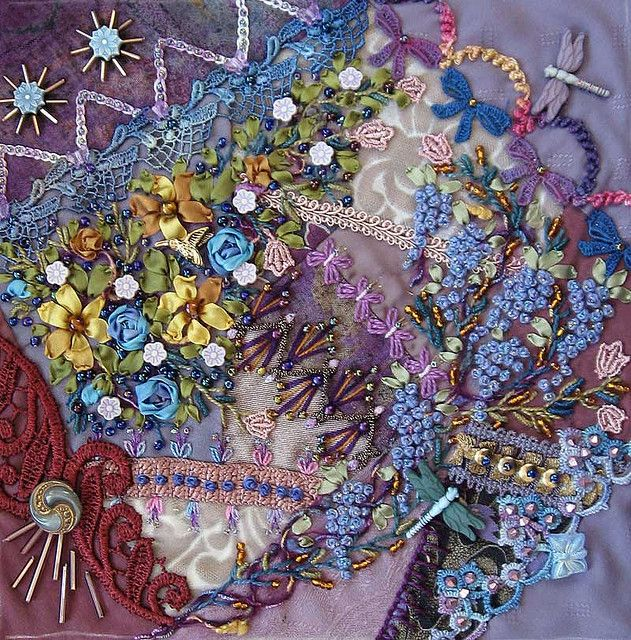 Crazy Quilt Embroidery, Sharon Boggon - Overwhelmed. How does that come out of someone's head?