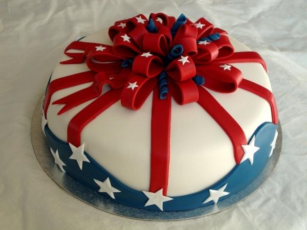 fourth of july mini cake