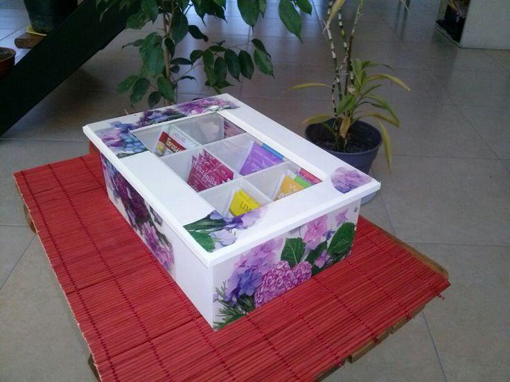 Caja té 6 divisiones