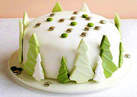 Новогодние торты - Как украсить новогодний торт, как украсить рождественский торт - Торт На новый год