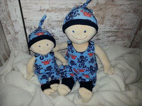Puppenkleidung - Strampler Baby Born Krümel Puppen Gr. 43 und 30 cm - ein Designerstück von Elmisemas-Zaubernadel bei DaWanda
