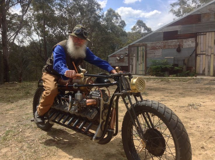"""This V16 created by Mark Walker. Australia. Called """"1916"""" is inspired by the V16 builders of the turn of the century.  Supercharged 2 stroke."""