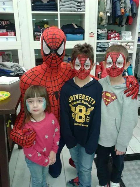 Break Time Mascotte Spiderman e Bambini!! www.multiservizinnovativi.com