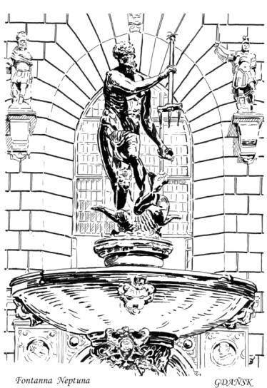 The most characteristic point.... Neptune's fountain / Das Kennzeichen von Danzig - der Neptunbrunnen