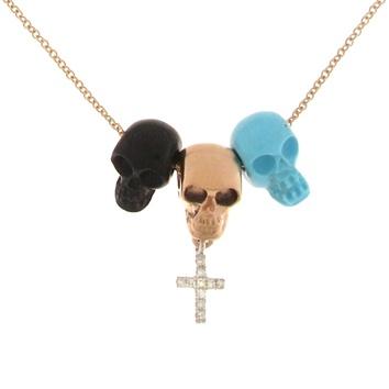 Very Gavello Sugar Skull pendants