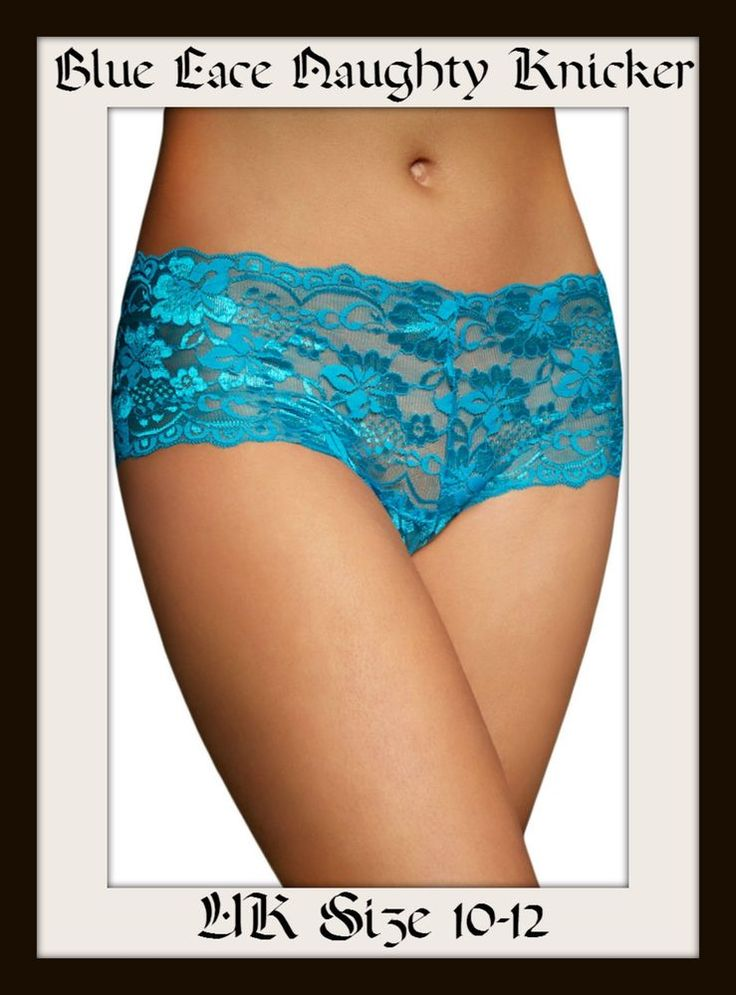 Lovely Lace up Knickers with Lace Various Colours  UK Size 10-12 Valentines Gift