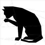 Silhouette Cat #1 - via @Craftsy