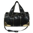 7286 Lindsay Lohan Belle Weekender Bag- Gold