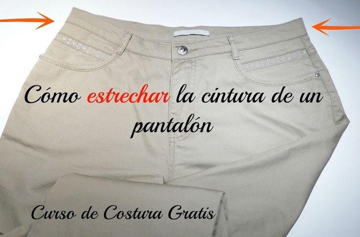 Curso de costura gratis: Cómo estrechar la cintura de un pantalón