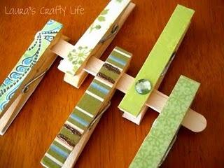 Mod Podge Clothespins