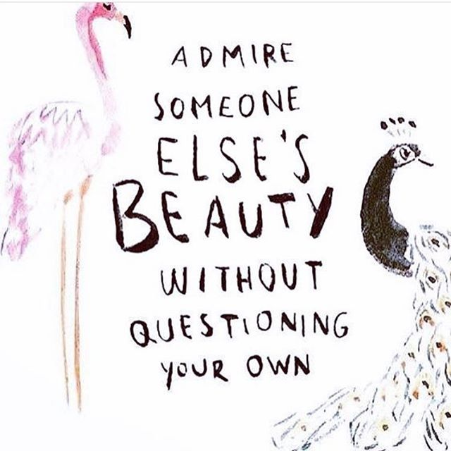 INSPIRE ✔️ Comparison is the thief of joy. You can admire someone else (not just in beauty) without bringing yourself down in comparison #SelfLoveClub #mindfitinspire