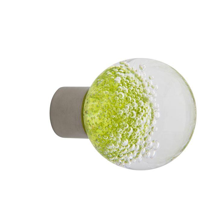 Bouton de meuble gamme séduction microbulles vert anis Fait main