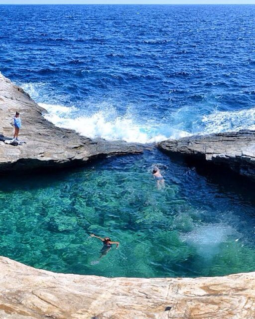 AMAZING NATURAL POOL GIOLA LAGOON IN THASSOS, GREECE