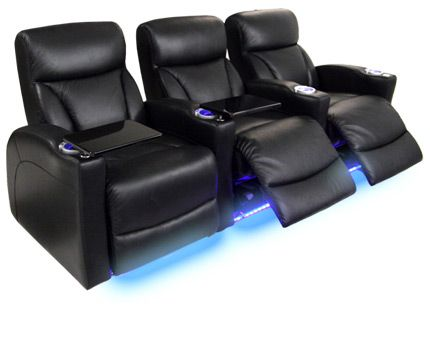 Nice The Barcalounger Matinee Deluxe Adds Lighted Cup Holders And Ambient Base  Lighting, With Straight And Curved Rows Configurations.