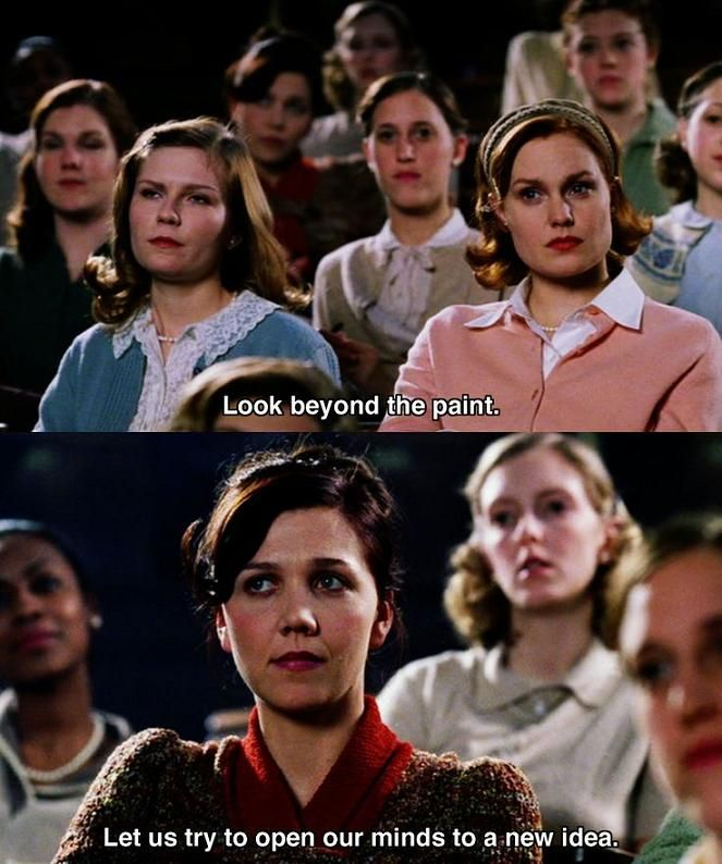 Look Beyond the Paint - Mona Lisa Smile #Movie #Quote