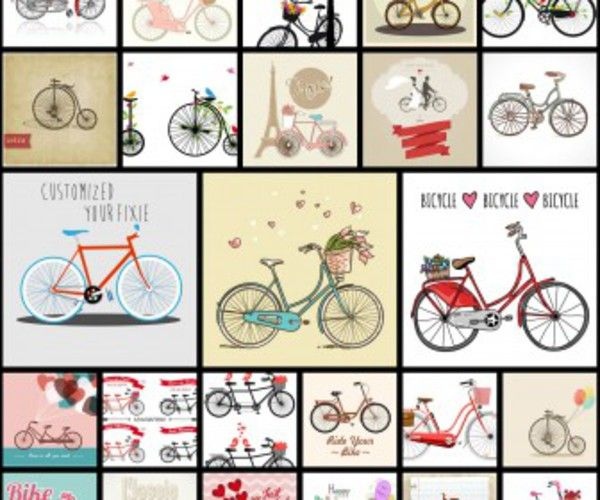 25 Bike illustrations in vector format