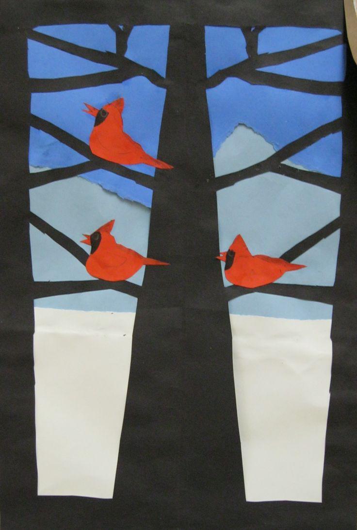Winter Tree 3rd grade art