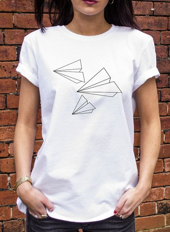 Paper Planes Tshirt Origami Tattoo Style Alternative Retro Hipster T-shirt N134 on Etsy, $16.53