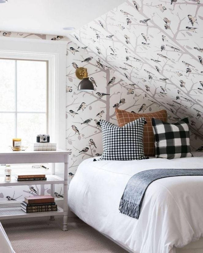 Awesome Attic Bedroom Wallpaper Ideas Attic Bedroom Designs Sloped Ceiling Bedroom Wallpaper Bedroom
