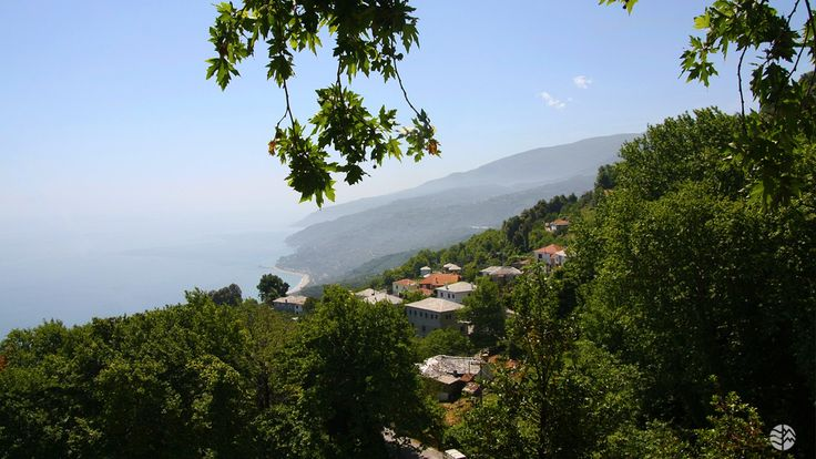 View from Pouri, East Pelion #Pelion #village #view #traditional #greece