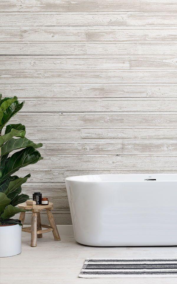 Light Wood Effect Wallpaper Muralswallpaper White Wallpaper Bathroom Wallpaper Wood Effect Wallpaper