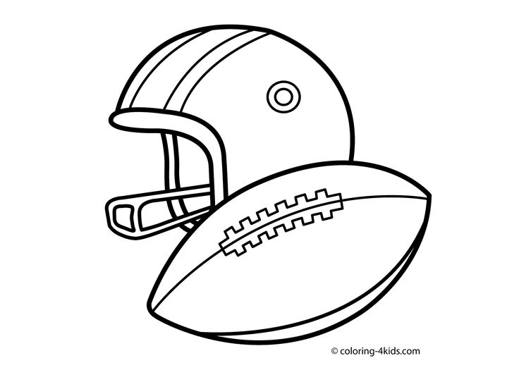 Rugby Sport Coloring Page For Kids Printable Free