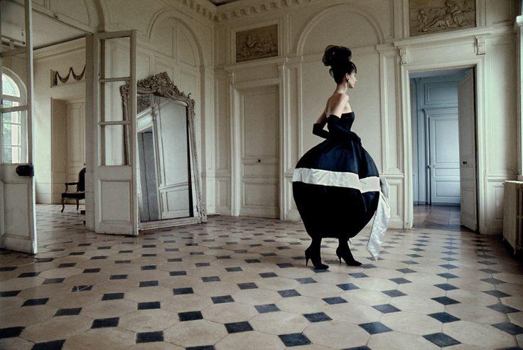 Frank Horvat. 1988, Normandie, France, for Frankfurter Allgemeine Magazin, ball dress