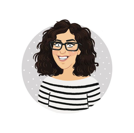 A custom digital Avatar, profile picture, illustrated portrait, illustration for blog, about page, website or Etsy profile