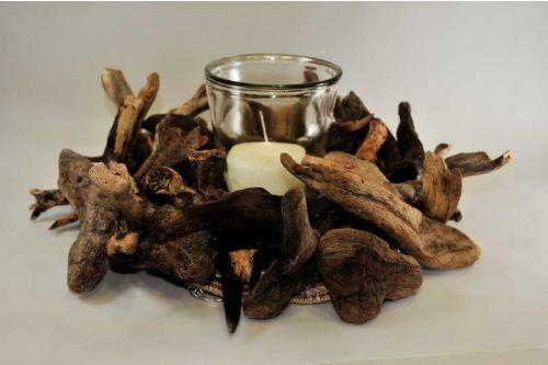 Κεριά – Κηροπήγια :: Στεφάνι από ξύλα - Χειροποίηση | Χειροποίητα Δώρα | By-Hand | Handmade Gifts